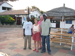 The organisers, Gambian Manager and TLG sponsored student.