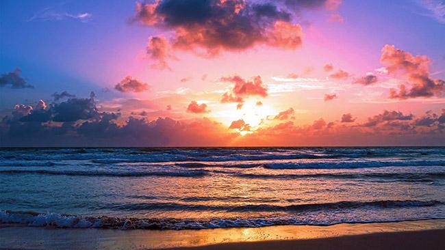 bedste strand solnedgang