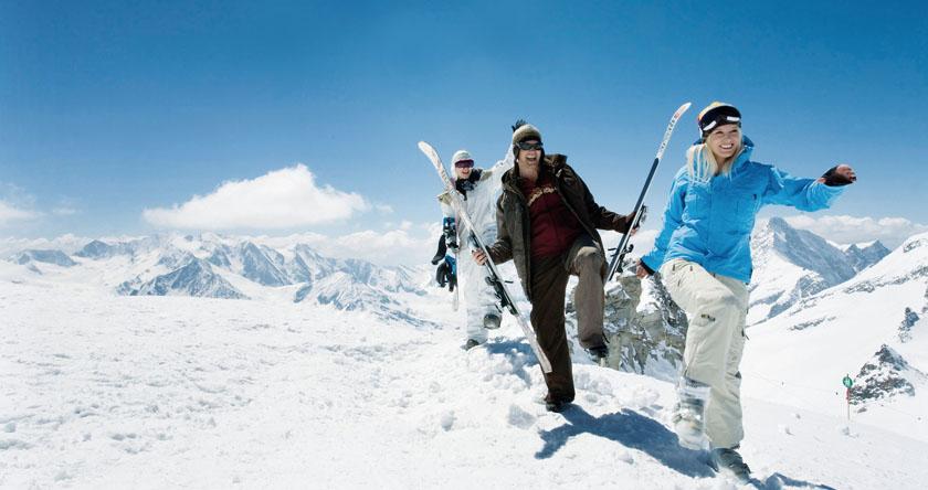 tiempo compartido de viaje de esquí