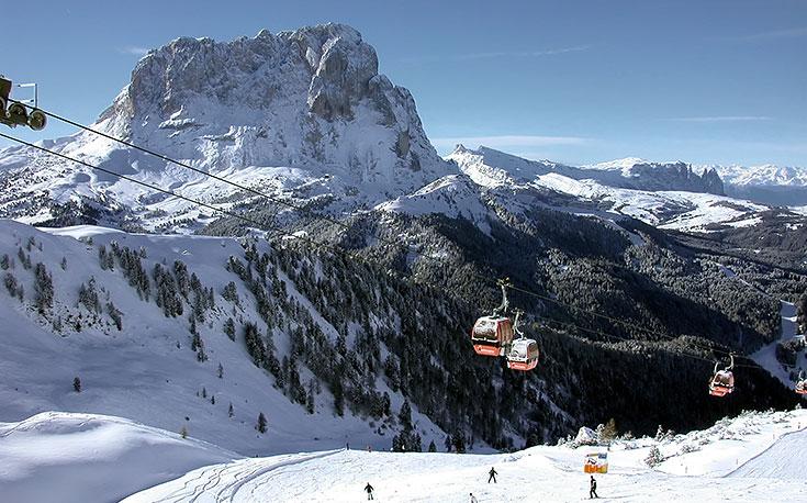 катание на лыжах val gardena