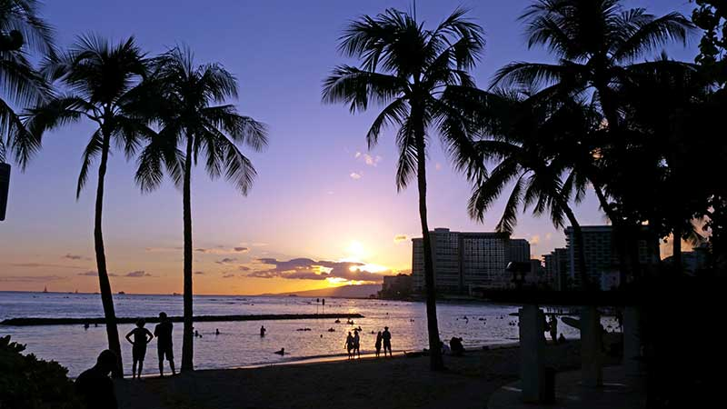 Hawaii - Tramonto di Waikiki