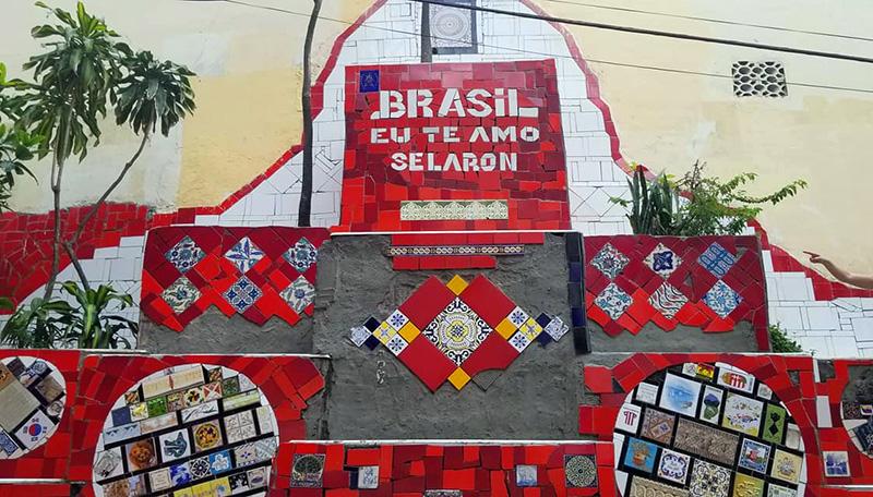 brazil rio selaron steps