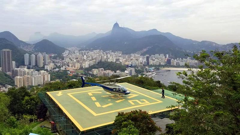 Brésil rio sugarloaf chopper