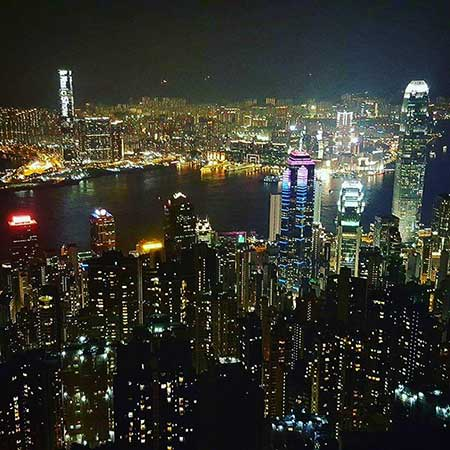 Hong Kong Peak Lookout Night