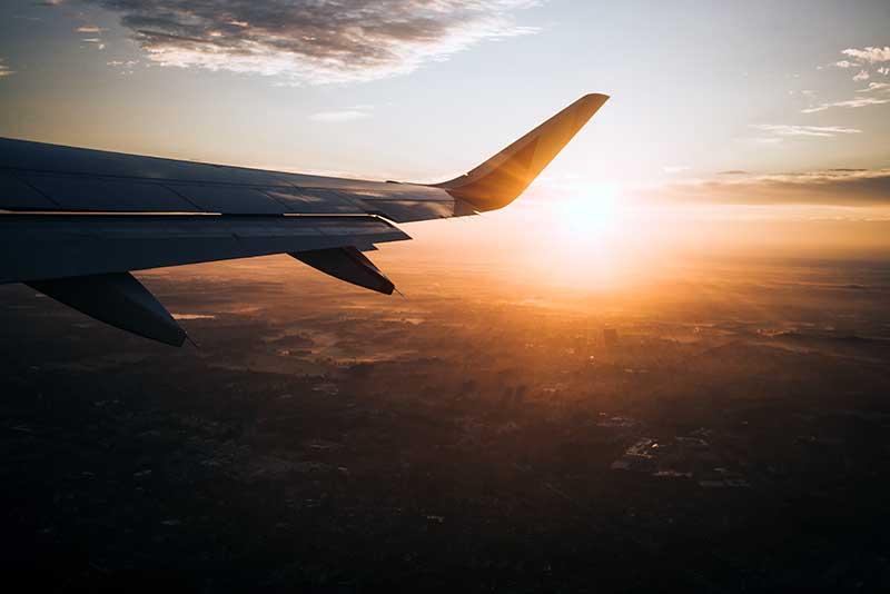 Avión de viaje